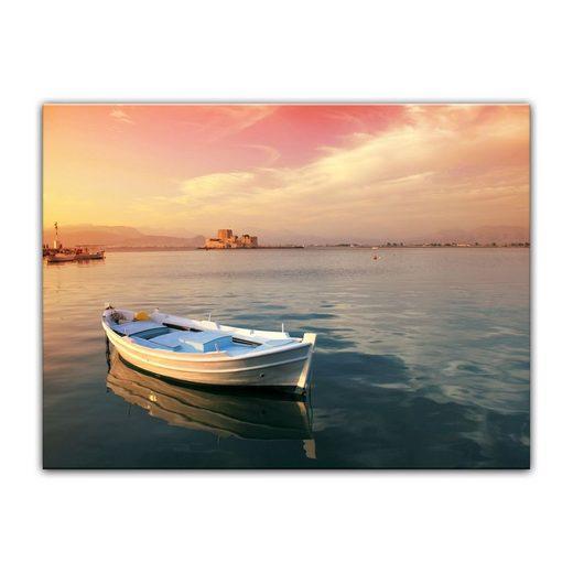 Bilderdepot24 Leinwandbild, Leinwandbild - traditionelles griechisches Fischerboot