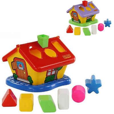 Polesie Spielcenter »Steckspiel Haus Sortierspiel 3354«, bunter Formsortierer mit sechs Formen