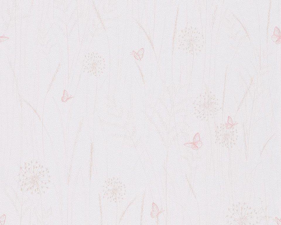 Papiertapete, livingwalls, »Mustertapete Lovely Friends« in creme, rosa, weiß