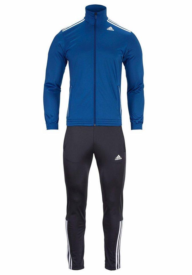 adidas Performance Trainingsanzug »TRACKSUIT ENTRY« in blau-dunkelgrau