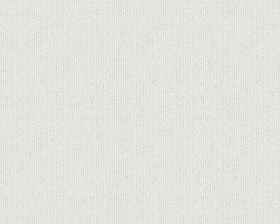 Vliestapete, livingwalls, »Streifentapete Bling Bling mit Glitter« in metallic, weiß