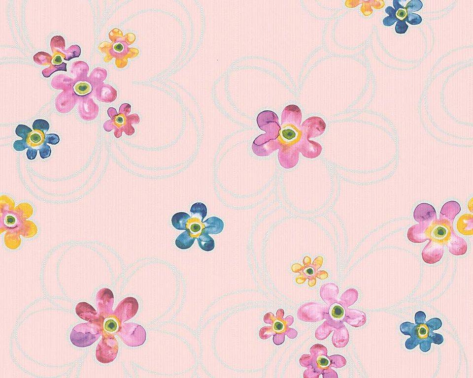 Papiertapete, livingwalls, »Mustertapete Boys and Girls 5« in bunt, rosa