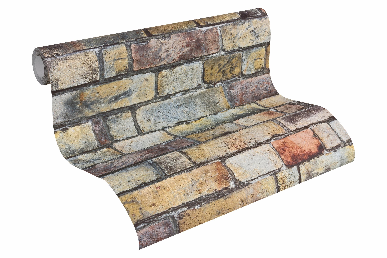 Vliestapete, livingwalls, »Mustertapete Authentic Walls Steinoptik«