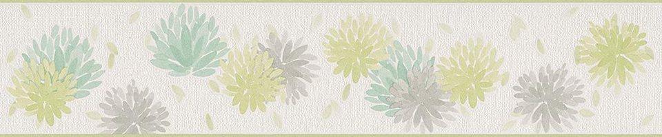 Vliestapete, Schöner Wohnen, »Mustertapete Schöner Wohnen 8«, Bordüre in beige, grün, grau