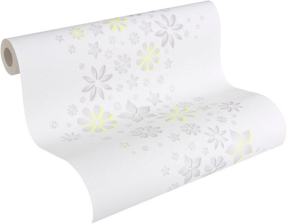 Papiertapete, Esprit, »Mustertapete Esprit 11 Eco« in gelb, grau, weiß
