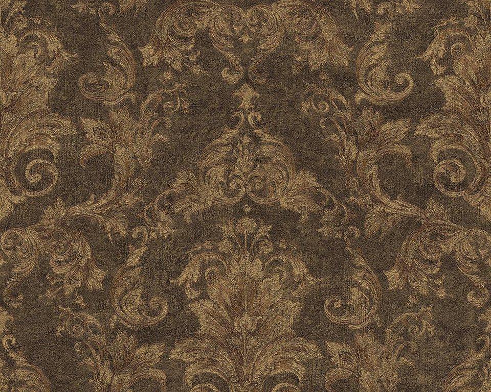 Vliestapete, Versace, »Mustertapete Versace 2 Pompei« in braun, metallic, schwarz
