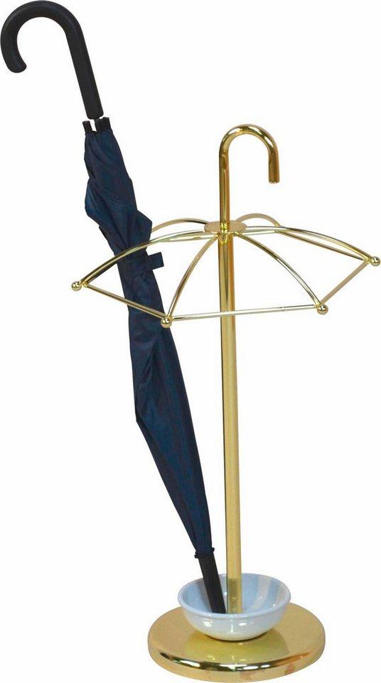 Schirmständer in messingfarben