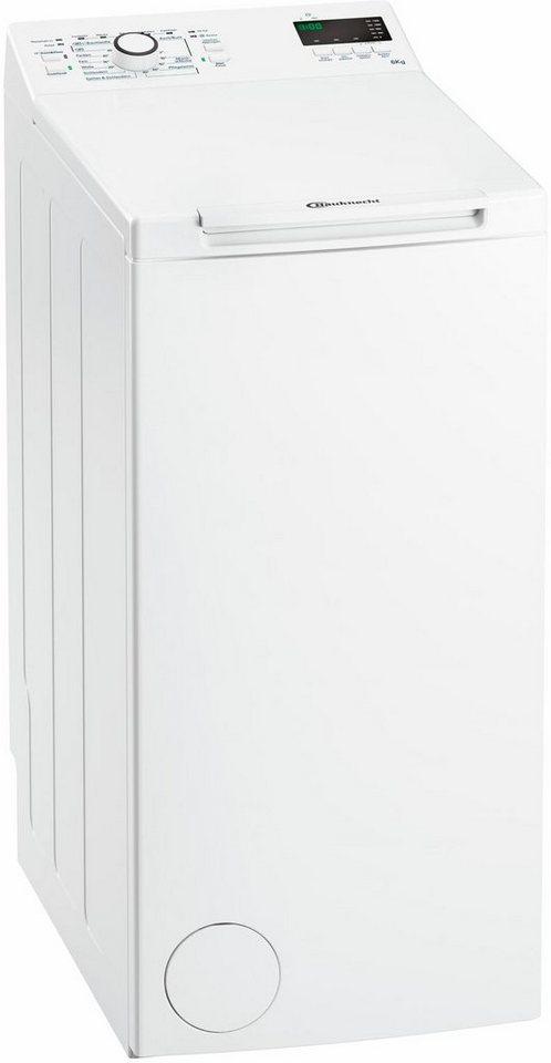 BAUKNECHT Waschmaschine Toplader WAT Prime 652 Di, A++, 6 kg, 1200 U/Min in weiß