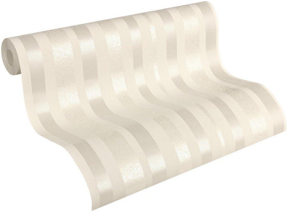 Vliestapete, Architects Paper SketchLine Design by F.A. Porsche, »Streifentapete AP 2000« in metallic, weiß