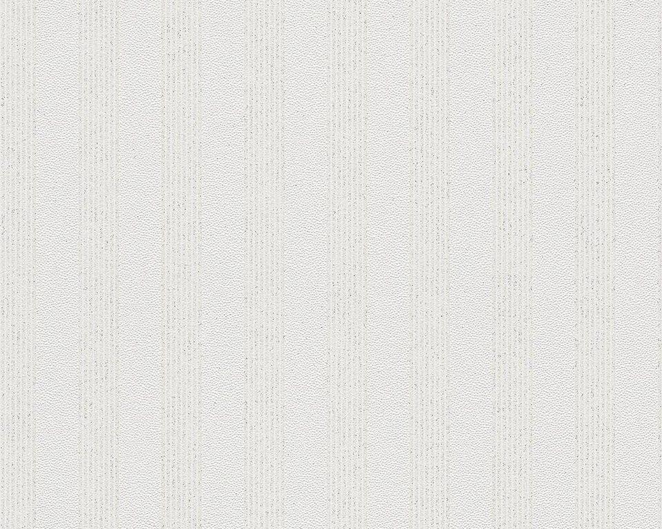 Vliestapete, livingwalls, »Streifentapete Bling Bling mit Glitter« in weiß