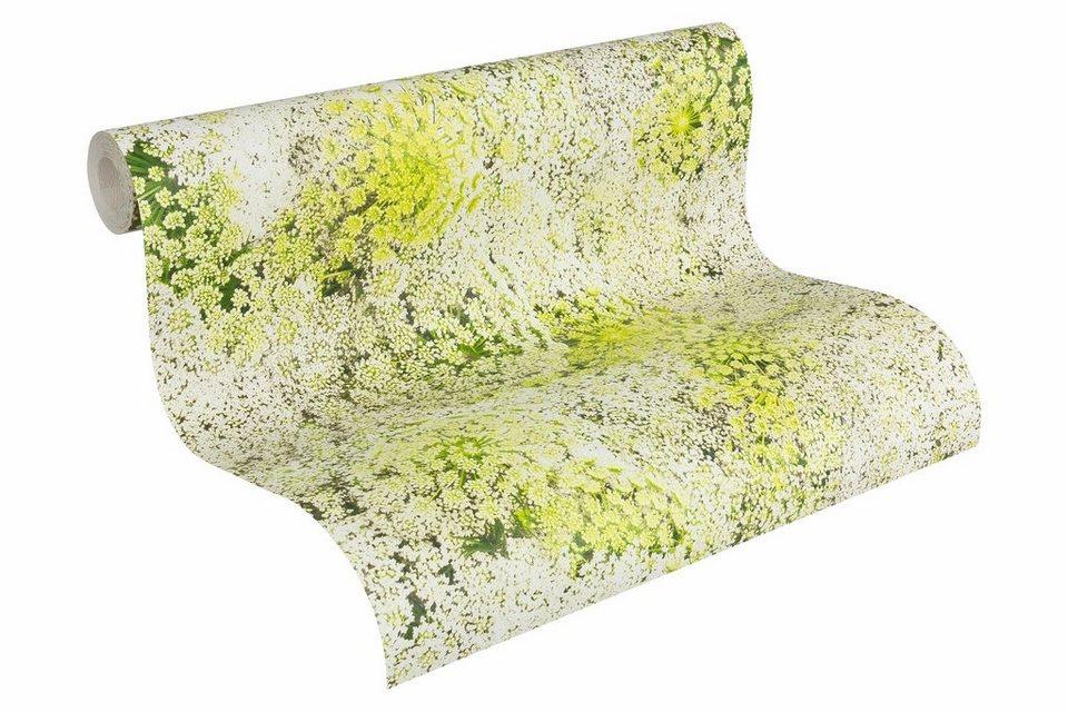 Papiertapete, Livingwalls, »Mustertapete Authentic Walls« in grün, weiß