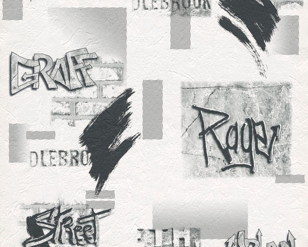Papiertapete, Livingwalls, »Mustertapete Boys and Girls 5 - Grafitti«