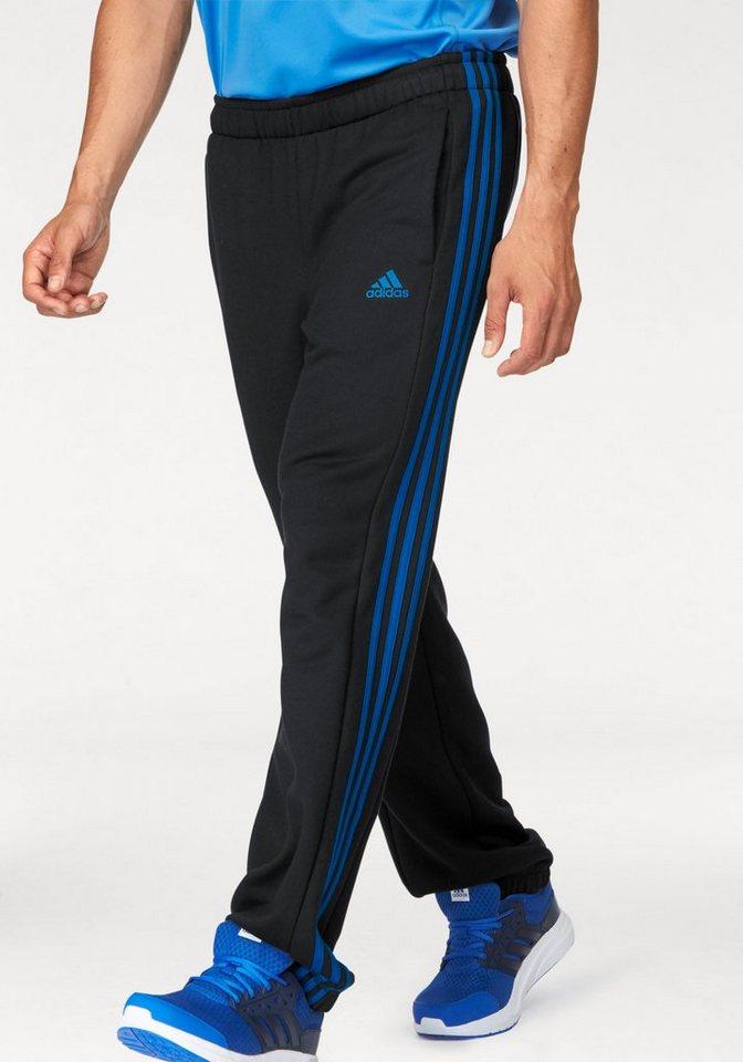 adidas Performance Jogginghose »ESSENTIALS 3S PANT CH FLEECE« in schwarz-blau