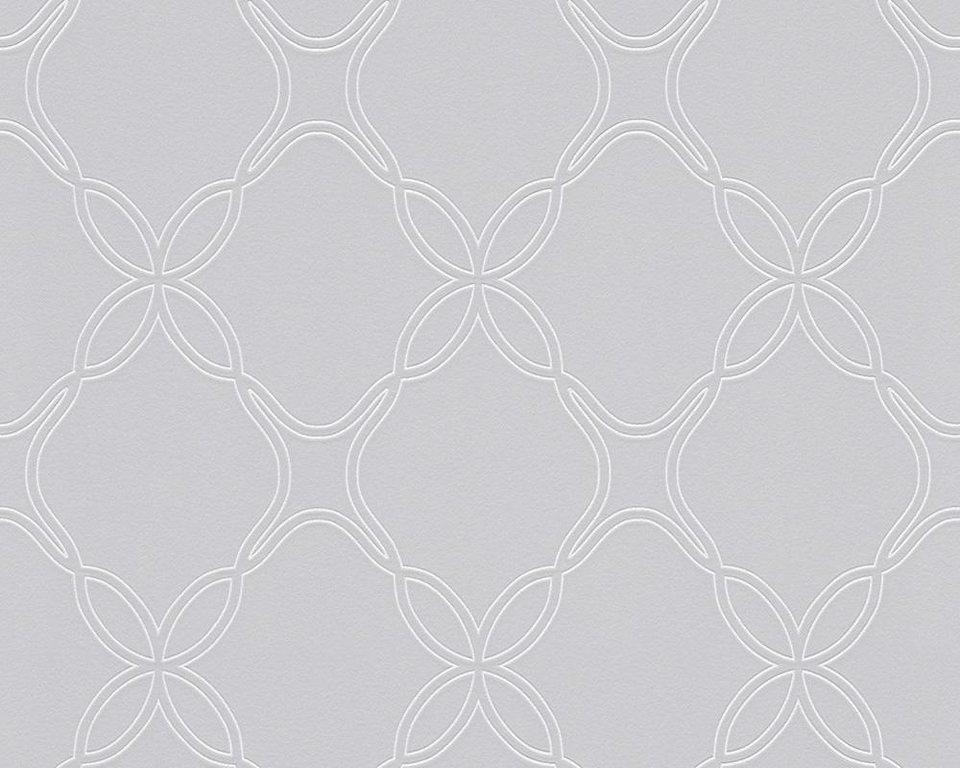 Vliestapete, Schöner Wohnen, »Mustertapete Schöner Wohnen 8« in brau, metallic, weiß