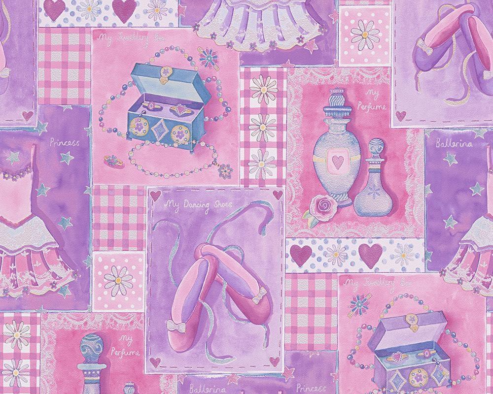 Papiertapete, livingwalls, »Mustertapete Boys and Girls 5«, Gegenstände