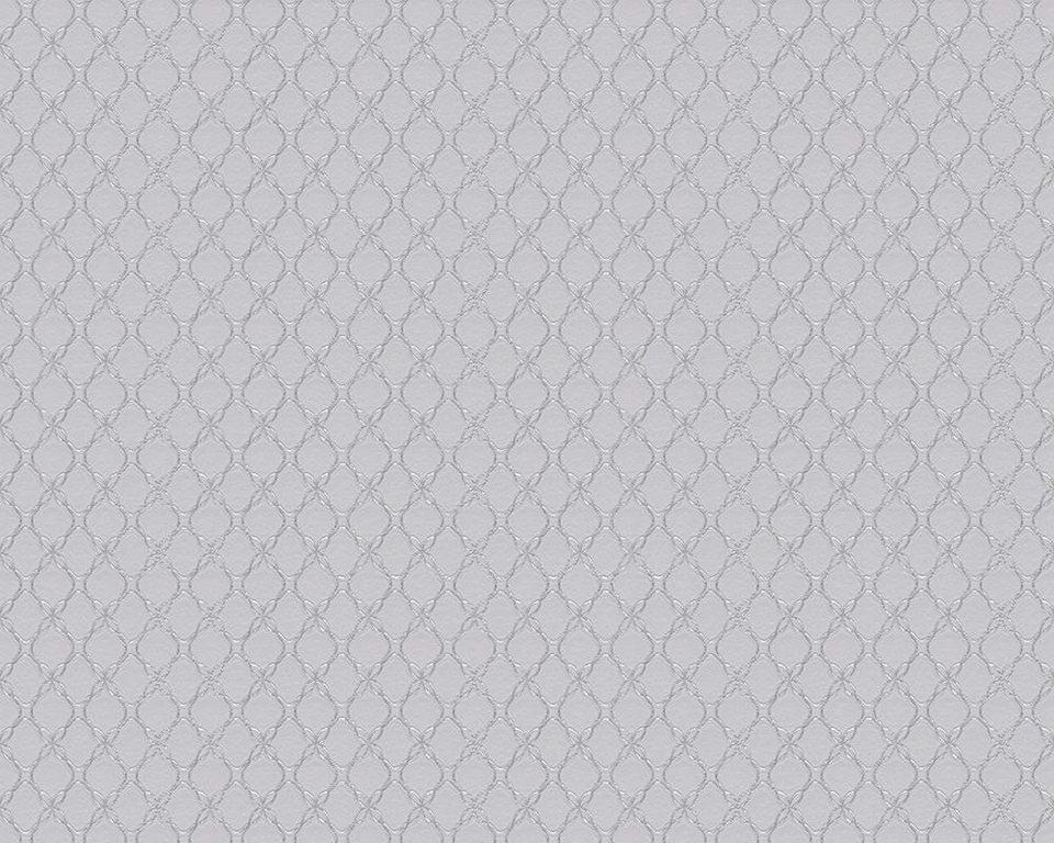 Vliestapete, Schöner Wohnen, »Mustertapete Schöner Wohnen 8« in grau, metallic