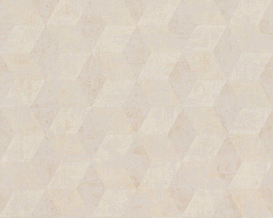 Vliestapete, livingwalls, »Mustertapete Titanium« in beige, metallic