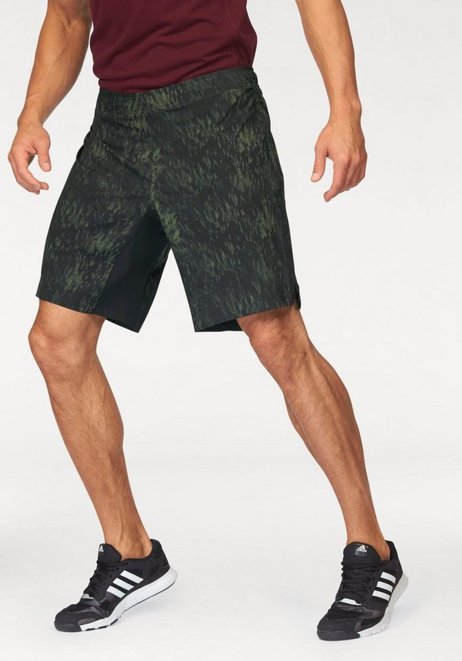 adidas Performance Shorts »ASS2GRASS FOREST SHORT GRAPHIC« in olivgrün-schwarz
