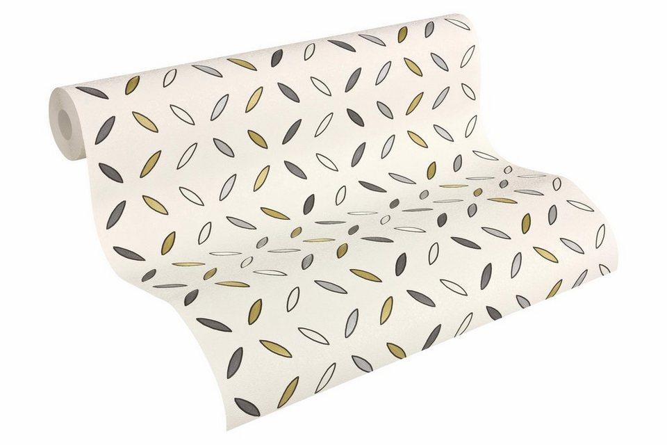 Vliestapete, Architects Paper, »Mustertapete AP 2000 Circles Design by F.A. Porsche« in grau, metallic, weiß