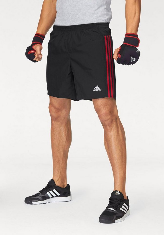 adidas Performance Laufshorts »RESPONSE SHORT« in schwarz-rot