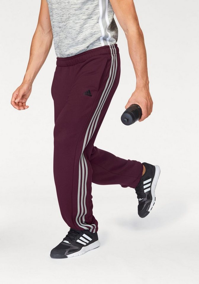 adidas Performance Funktions-Jogginghose in Bordeaux-rot