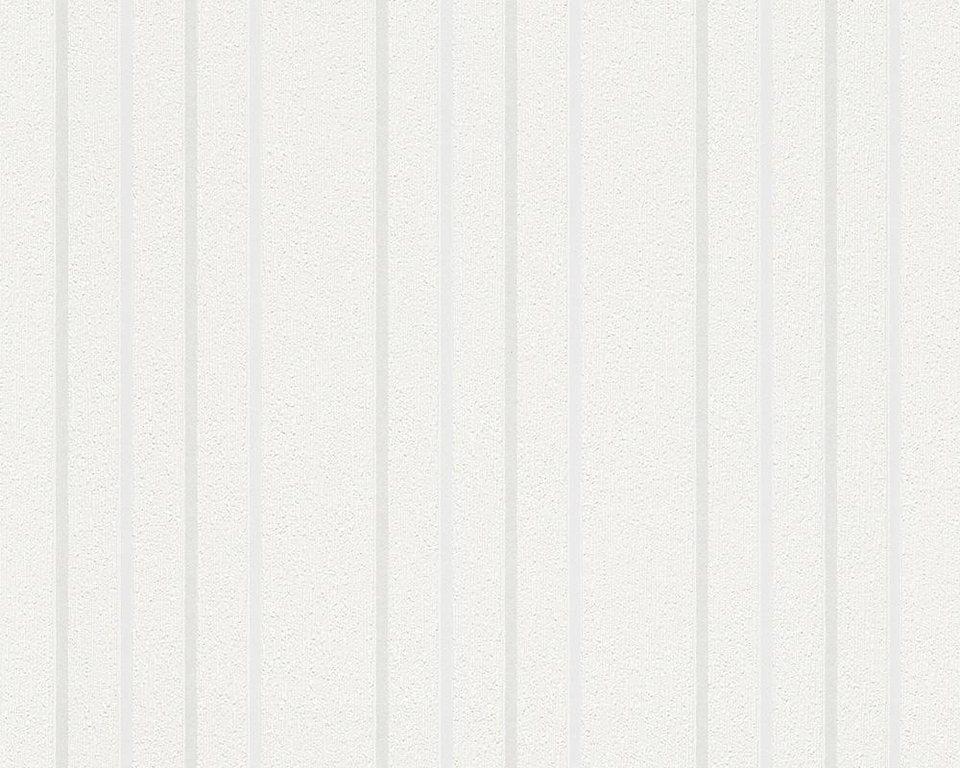 Vliesetapete, Livingwalls, »Streifentapete Boys and Girls 5« in weiß