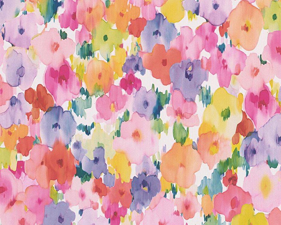 Papiertapete, livingwalls, »Mustertapete Boys and Girls 5« in bunt, rosa, lila