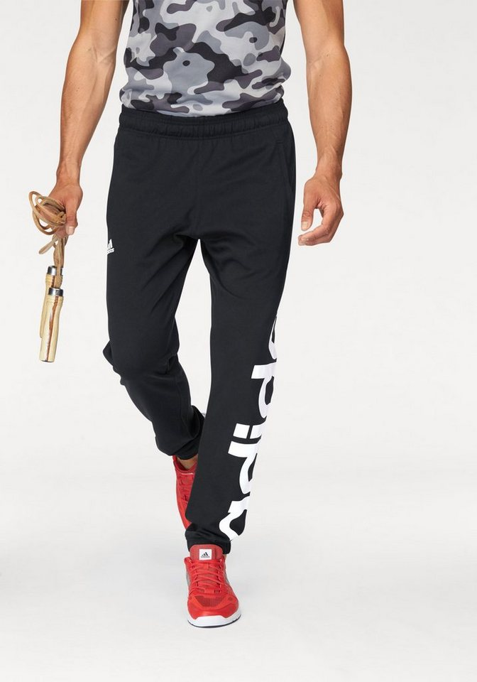 adidas Performance Jogginghose »LINEAR TAPERED PANT SINGLE JERSEY« in schwarz