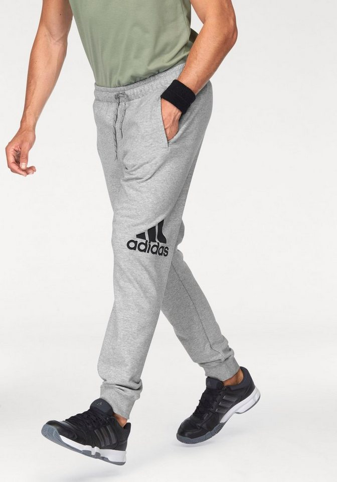 adidas Performance ESSENTIALS LOGO PANT FRENCH TERRY CH Jogginghose in Grau-Meliert