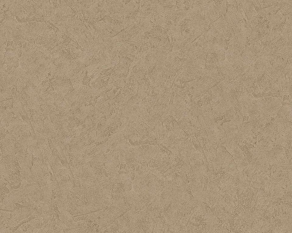 Vliestapete, livingwalls, »Mustertapete Titanium« in hellbraun, metallic
