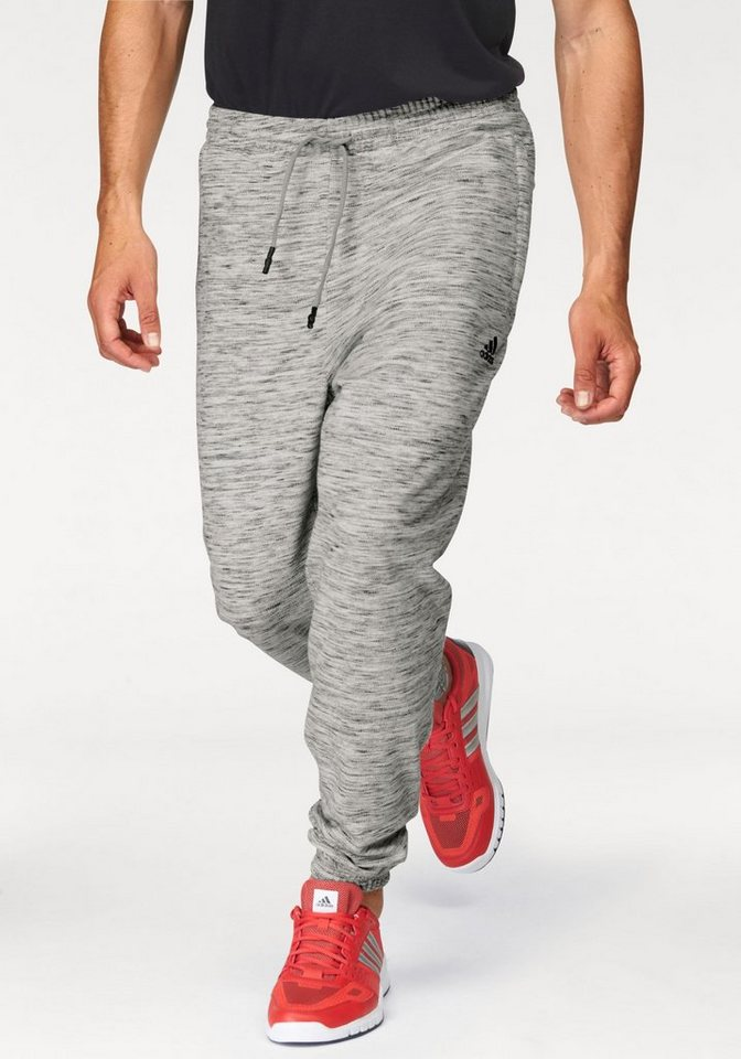 adidas Performance Jogginghose »ID HEATHER PANT« in grau-meliert