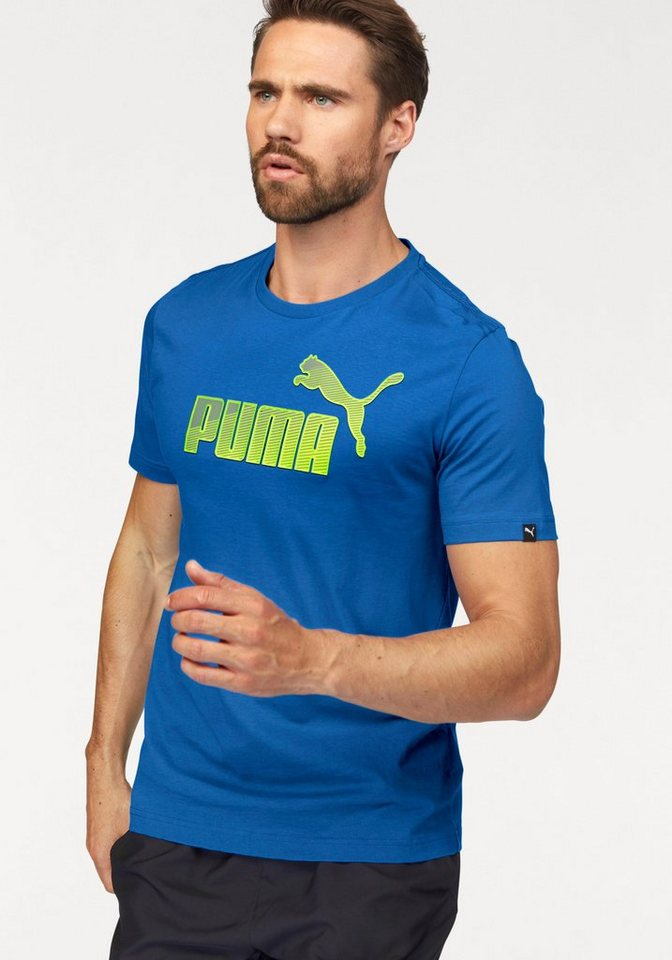 PUMA T-Shirt »Hero Logo Tee« in blau