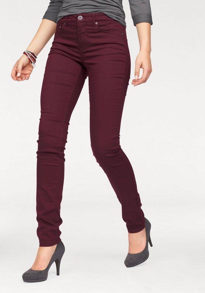 Arizona Skinny-fit-Jeans High Waist in bordeaux