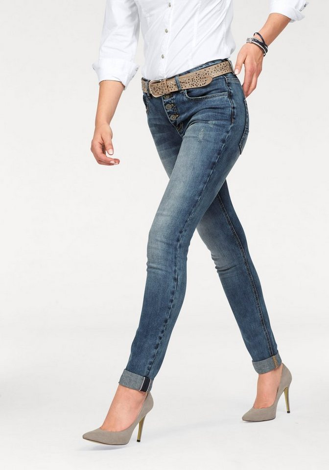 Arizona Skinny-fit-Jeans High Waist in blue-used