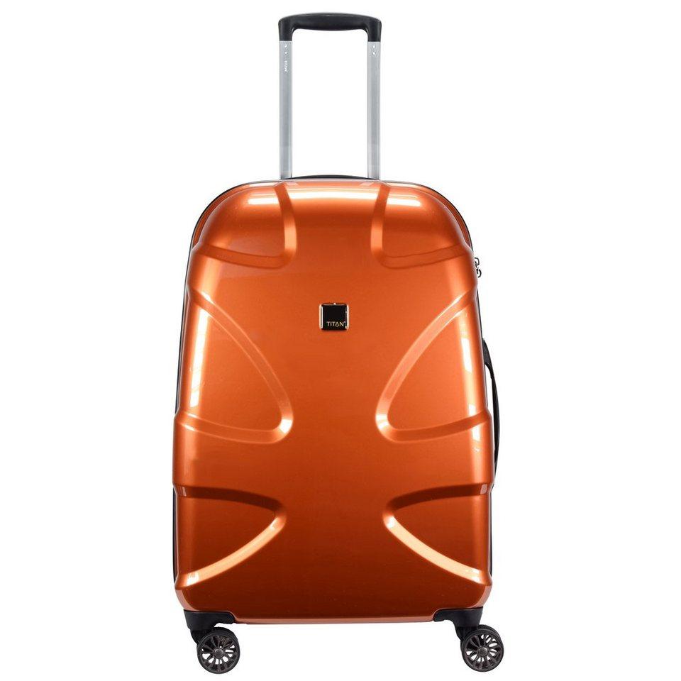 Titan X2 Flash 4-Rollen Trolley 71 cm in coppercolored