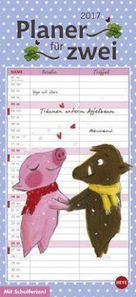 Kalender »Rosalie & Trüffel Planer für zwei - Kalender 2017«