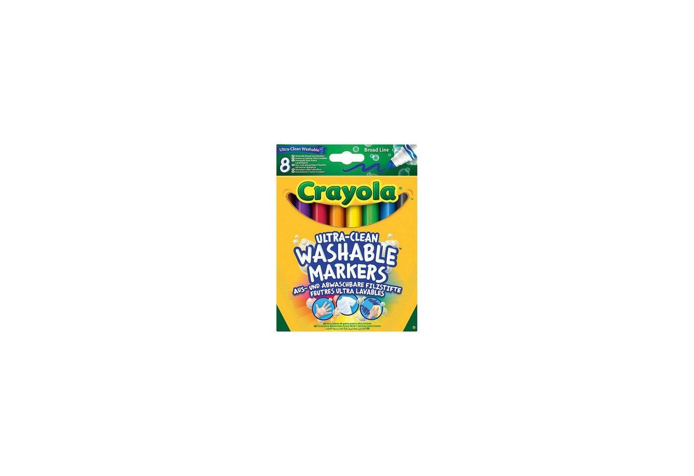 Crayola® 8 Ultra Clean aus- und abwaschbare Filzstifte