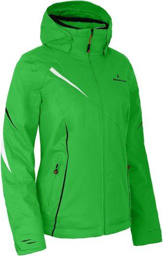 Bergson Skijacke »DESTINY« Damen Skijacke, wattiert, 12000 mm Wassersäule, Kurzgrößen, grü/blau