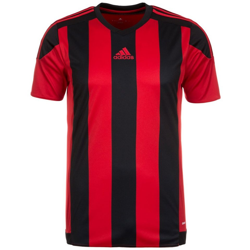 adidas Performance Striped 15 Fußballtrikot Herren in rot / schwarz