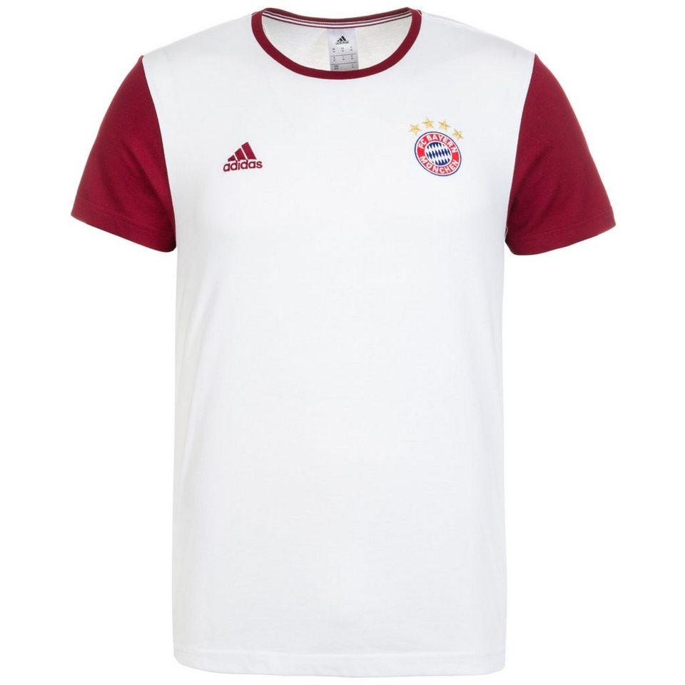 adidas Performance FC Bayern München 3S T-Shirt Herren in weiß / dunkelrot
