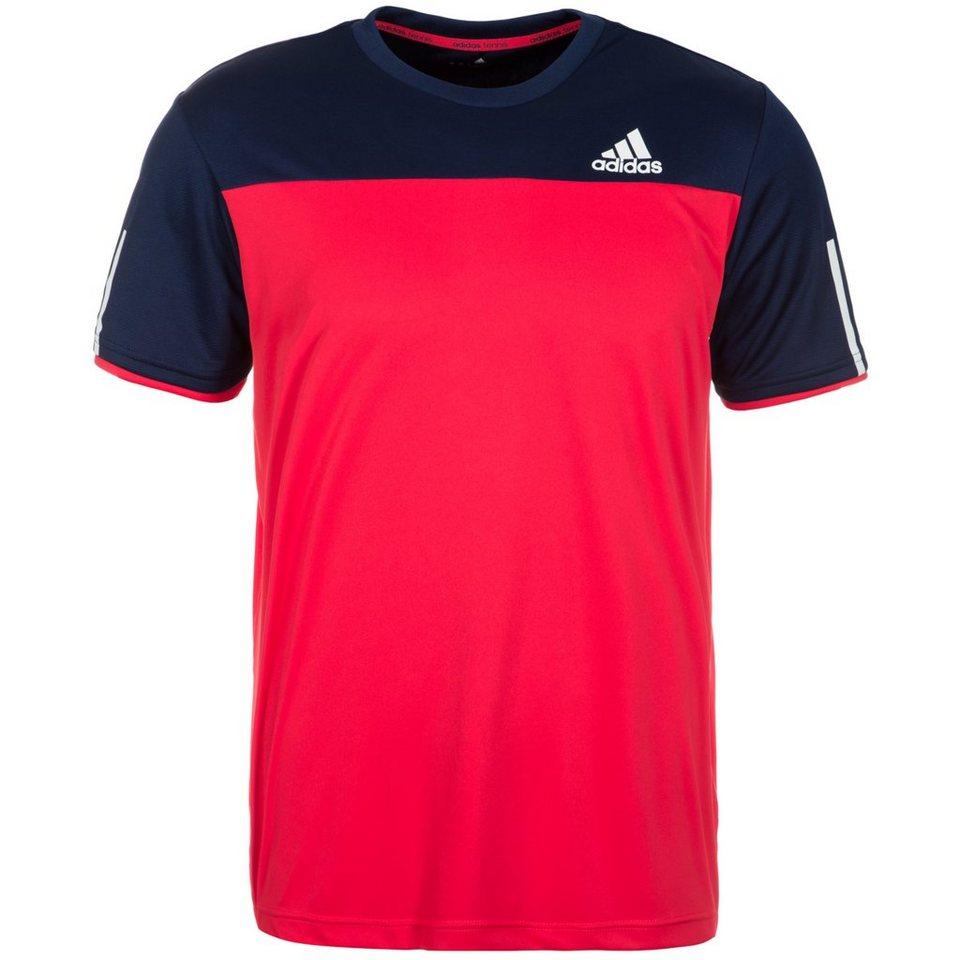 adidas Performance Club Tennisshirt Herren in rot / dunkelblau