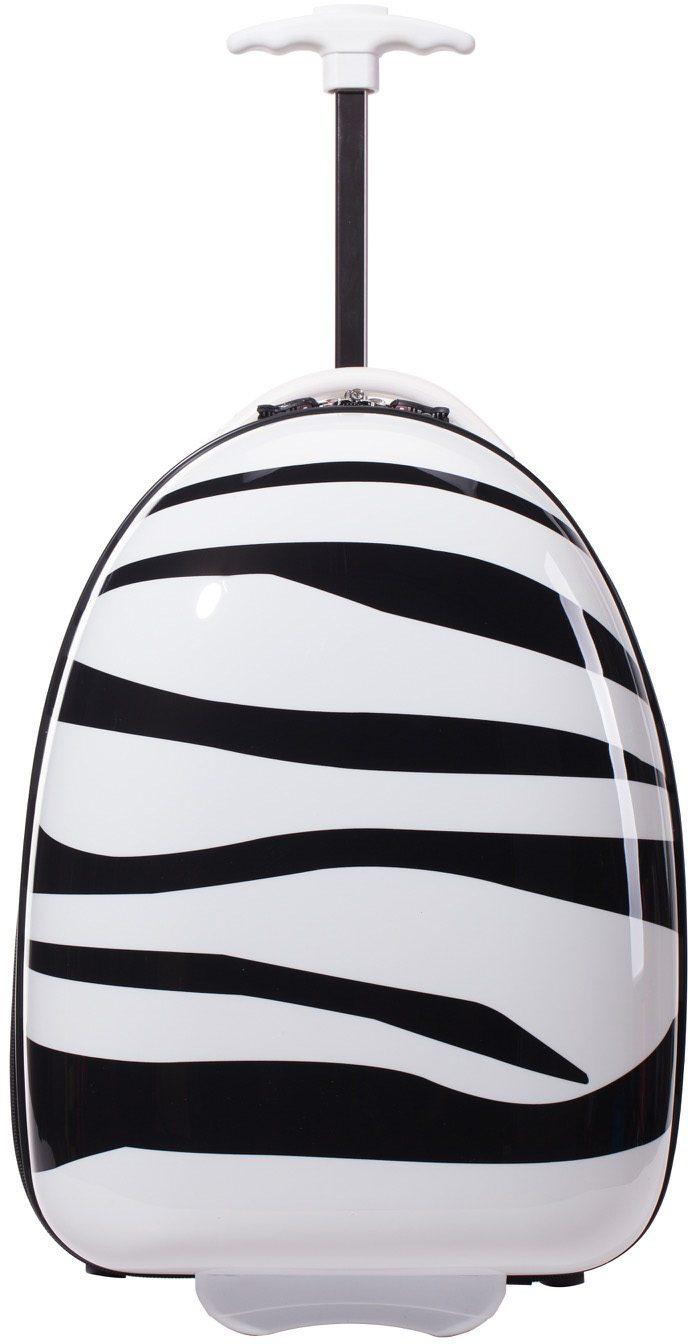 HAUPTSTADTKOFFER Kindertrolley mit 2 Rollen, »Trolley Zebra«