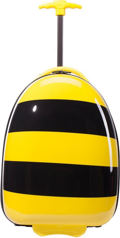 HAUPTSTADTKOFFER Kindertrolley mit 2 Rollen, »Trolley Biene« in gelb