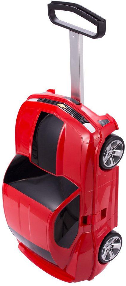 HAUPTSTADTKOFFER Kindertrolley mit 2 Rollen, »Trolley Rennauto« in rot