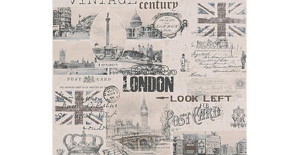 Papiertapete, Livingwalls, »Mustertapete Authentic Walls Vintage Style«