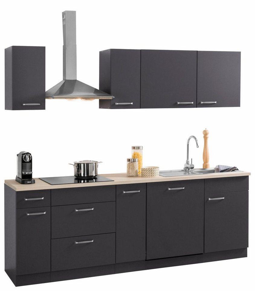 Küchen Küchenzeile mit E-Geräten, »Basel« Breite 230 cm online ...