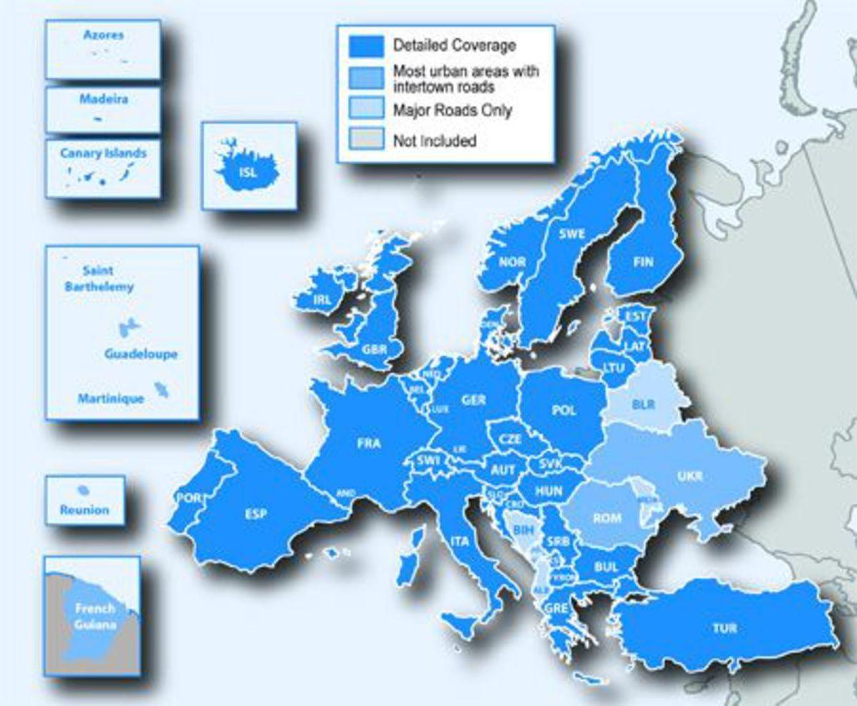 Garmin Straßenkarte »Update nüMaps Onetime Europa SD Europa NT«