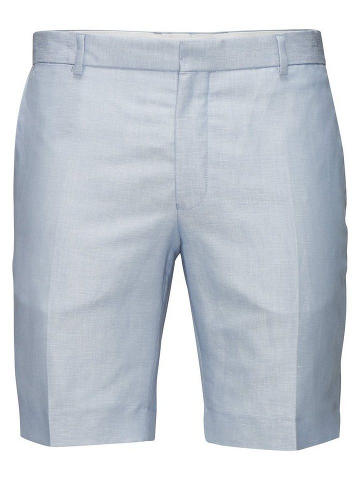 Jack & Jones Hellblaue Leinenmischfaser-Anzug- Shorts in Monaco Blue