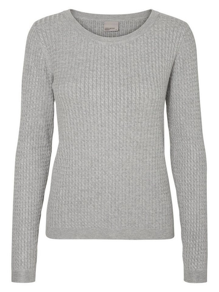 Vero Moda Lässiges Oberteil mit langen Ärmeln in Light Grey Melange