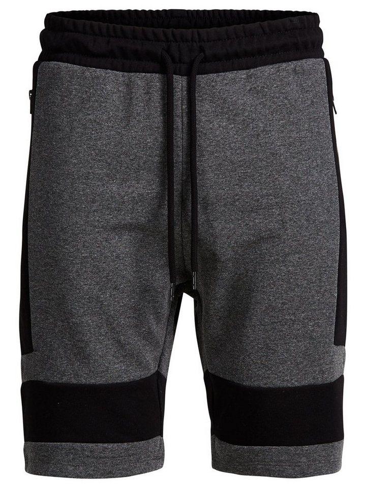 Jack & Jones Regular-Fit- Sweatshorts in Dark Grey Melange